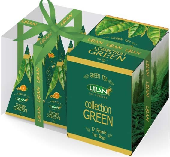 Zelený čaj LIRAN GREEN COLLECTION pyramidové sáčky 12  ks x 2g