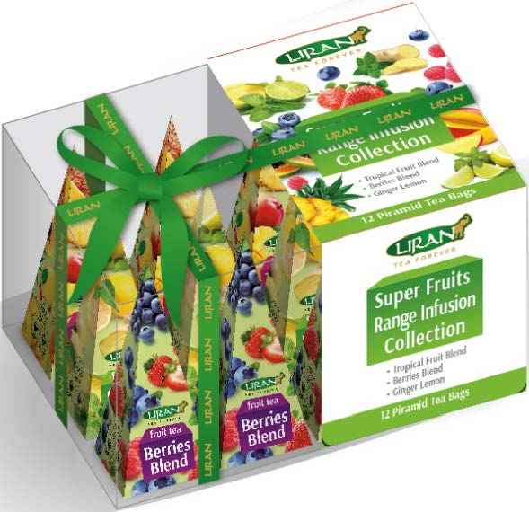 Ovocný čaj LIRAN SUPER FRUITS COLLECTION pyramidové sáčky 12 ks x 2g